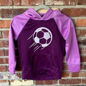 Pink & Purple Justice Soccer Hoodie